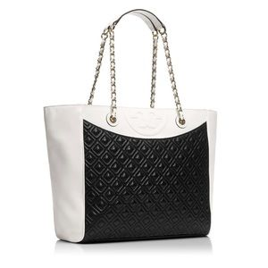 Tory Burch East West Colorblock Fleming Tote